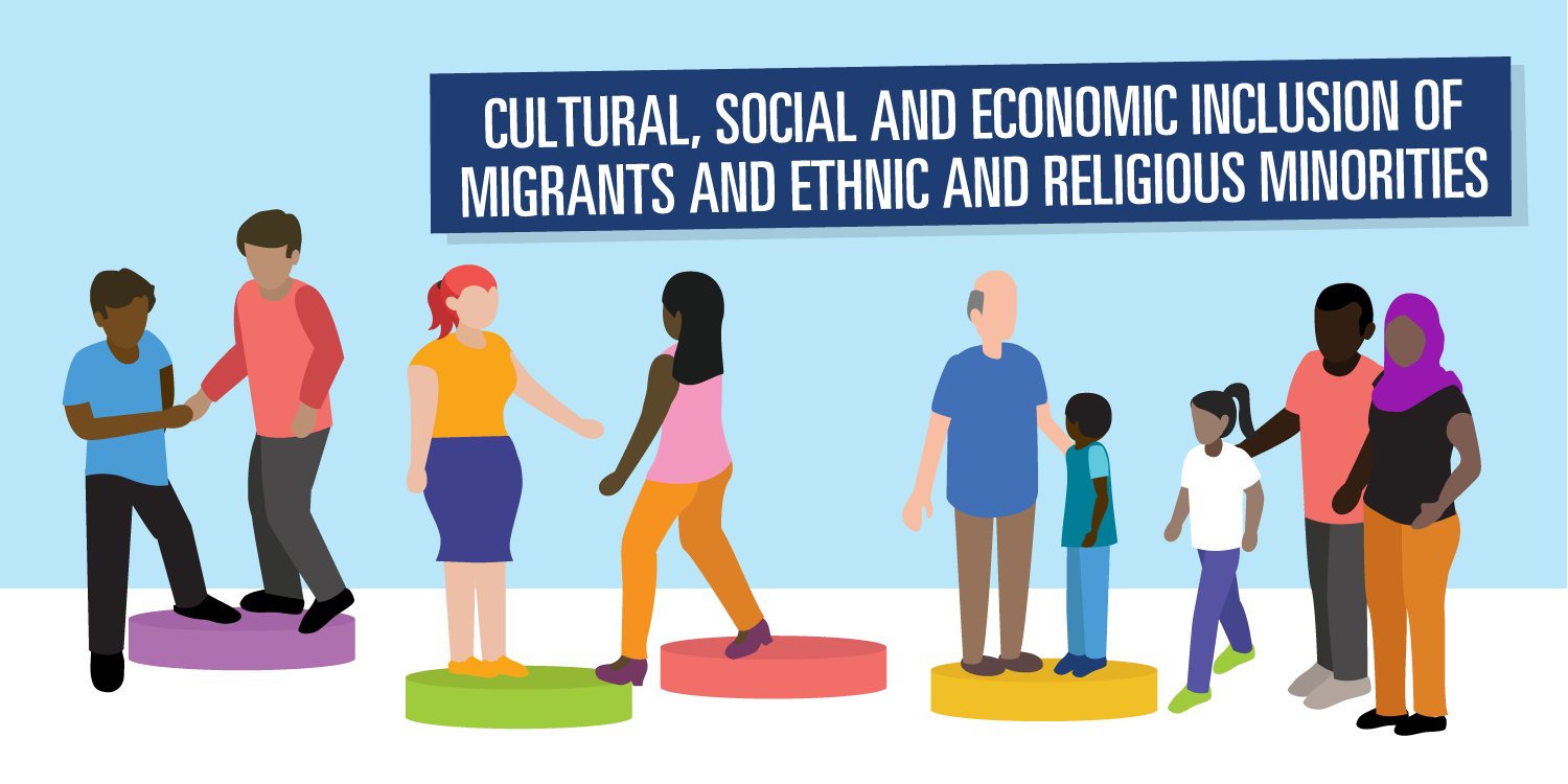 Cultural, social & economic inclusion of migrants and ethnic & religious  minorities