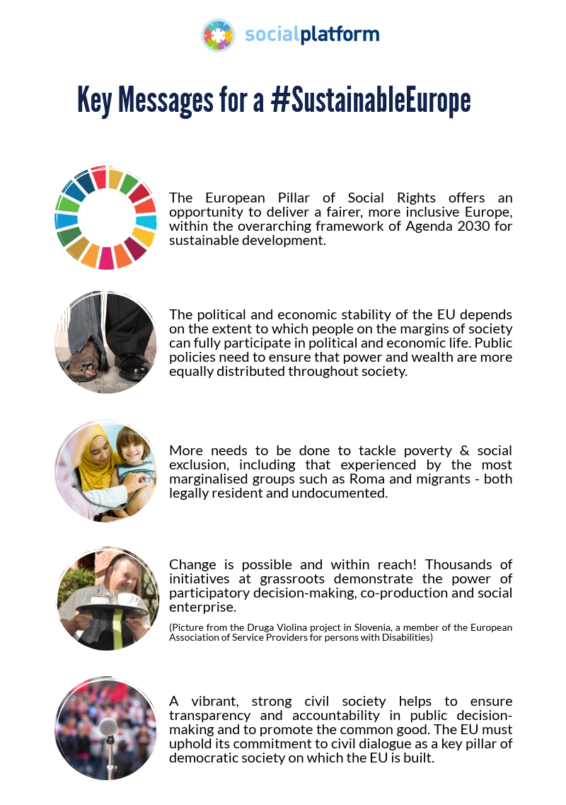 Sustainable and Social Europe within reach – messages to the